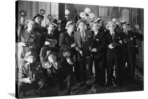 Paparazzi 50Ies Style--Stretched Canvas Print