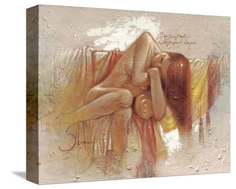Relaxing-Joani-Stretched Canvas Print