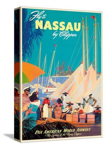 Fly to Nassau by Clipper - New Providence Island, The Bahamas - Pan American World Airways (PAA)-Mark Von Arenburg-Stretched Canvas Print