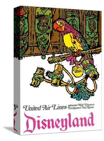Disneyland - Walt Disney's Enchanted Tiki Room - United Air Lines-Jabavy-Stretched Canvas Print