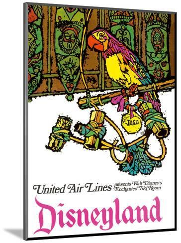 Disneyland - Walt Disney's Enchanted Tiki Room - United Air Lines-Jabavy-Mounted Art Print