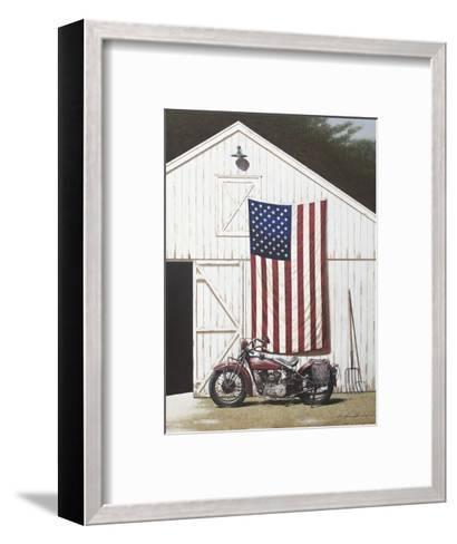 Barn and Motorcycle-Zhen-Huan Lu-Framed Art Print