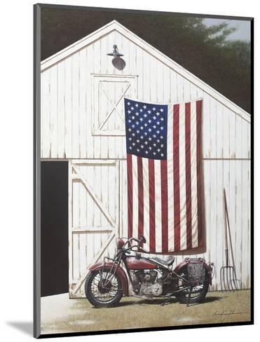 Barn and Motorcycle-Zhen-Huan Lu-Mounted Art Print