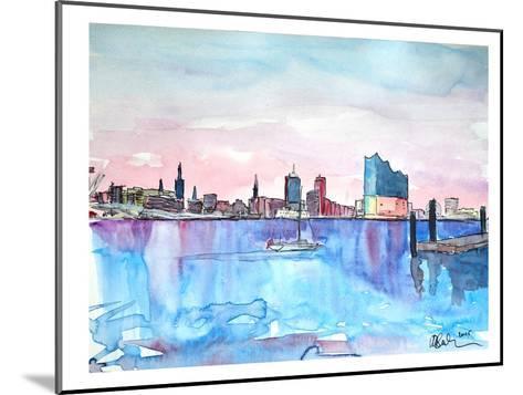 Hamburg Harbour City Elbphilharmonie-M Bleichner-Mounted Art Print