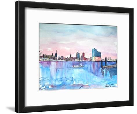 Hamburg Harbour City Elbphilharmonie-M Bleichner-Framed Art Print