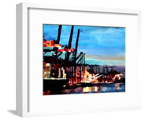 Hamburghafen-M Bleichner-Framed Art Print