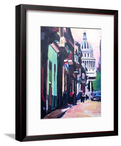 Havana Cuba Street Scene-M Bleichner-Framed Art Print