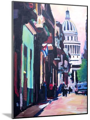 Havana Cuba Street Scene-M Bleichner-Mounted Art Print