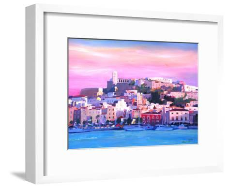 Ibiza Old Town And Harbour Pearl Of The Mediterranean-M Bleichner-Framed Art Print