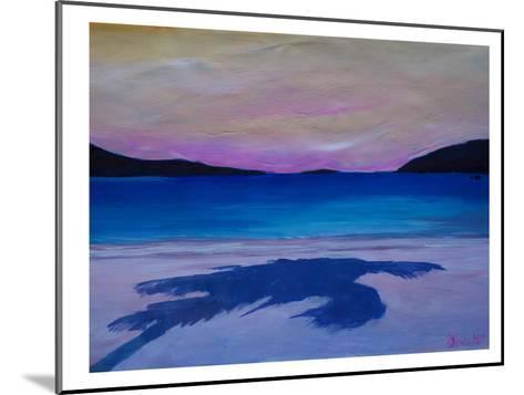 Caribbean Beach Palm In Soft Evening Light-M Bleichner-Mounted Art Print
