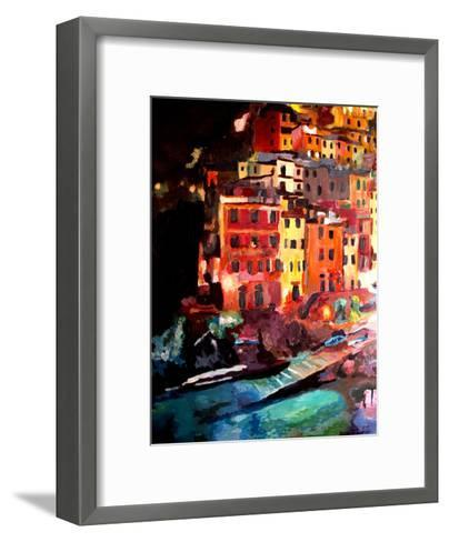 Magic Cinque Terre Night In Riomaggiore-M Bleichner-Framed Art Print