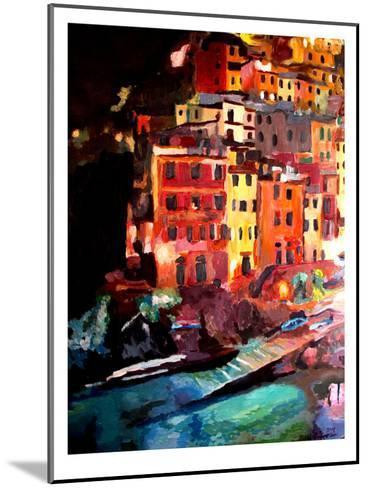 Magic Cinque Terre Night In Riomaggiore-M Bleichner-Mounted Art Print