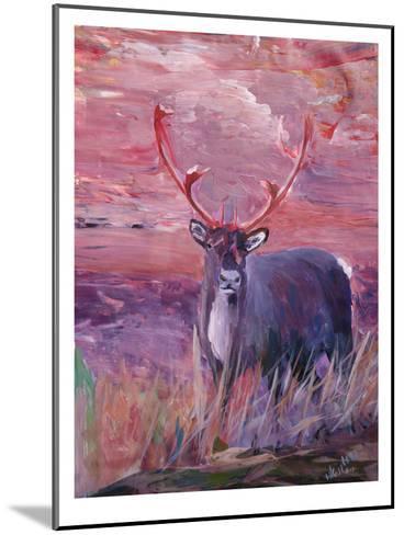 Reindeer-M Bleichner-Mounted Art Print