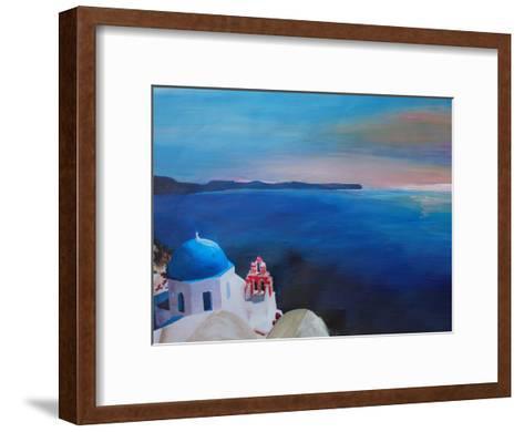 Santorini Greek Island View-M Bleichner-Framed Art Print