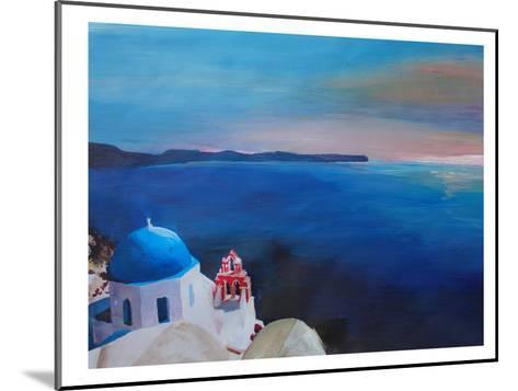 Santorini Greek Island View-M Bleichner-Mounted Art Print