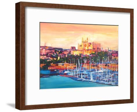 Spain Balearic Island Palma De Mallorca With Harbour And Cathedral Neu-M Bleichner-Framed Art Print