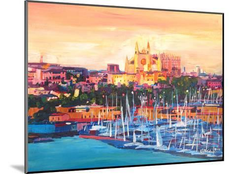 Spain Balearic Island Palma De Mallorca With Harbour And Cathedral Neu-M Bleichner-Mounted Art Print