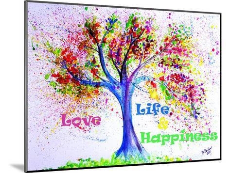 Tree Love Life Happiness-M Bleichner-Mounted Art Print