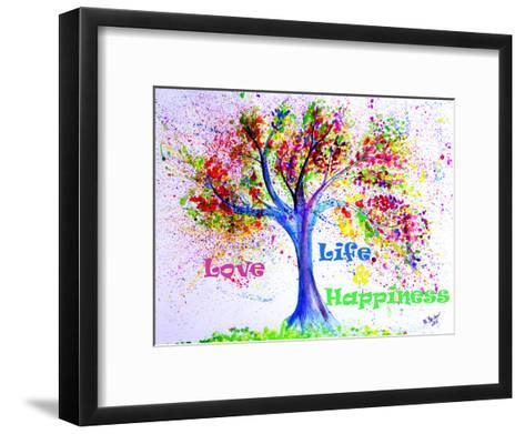Tree Love Life Happiness-M Bleichner-Framed Art Print