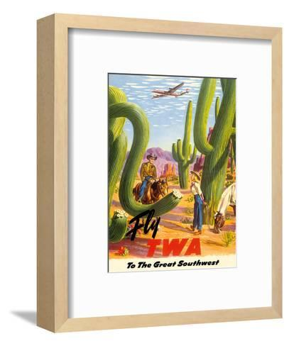 To the Great Southwest - Fly TWA Trans World Airlines-Frank Soltesz-Framed Art Print