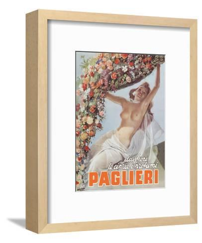 From the Flowers come the Powders and Scents of Paglieri - Authentic Essence Perfume-Gino Boccasile-Framed Art Print
