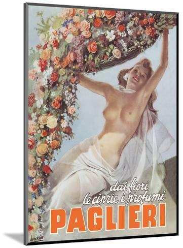 From the Flowers come the Powders and Scents of Paglieri - Authentic Essence Perfume-Gino Boccasile-Mounted Art Print