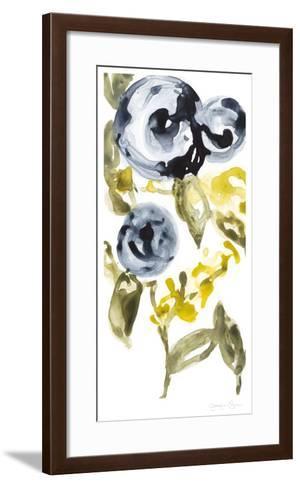 Navy Anemone I-Jennifer Goldberger-Framed Art Print