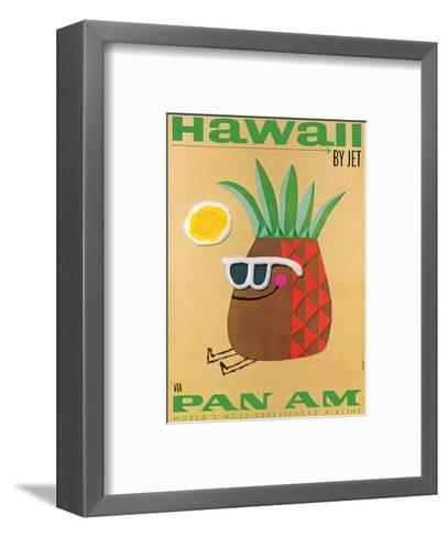 Hawaii by Jet - Pan American Airlines (PAA) - Mr. Pineapple Head-Phillips-Framed Art Print