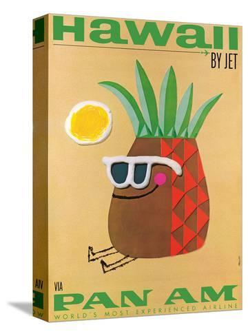 Hawaii by Jet - Pan American Airlines (PAA) - Mr. Pineapple Head-Phillips-Stretched Canvas Print