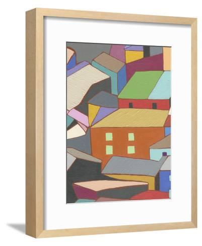 Rooftops in Color III-Nikki Galapon-Framed Art Print