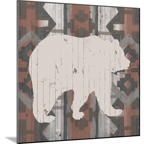Southwest Lodge Silhouette III-Vision Studio-Mounted Art Print
