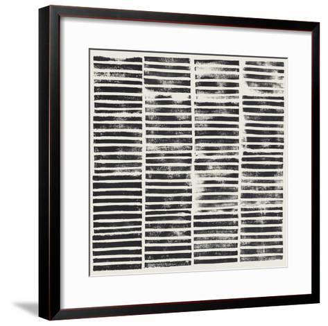 Stripe Block Prints II-Grace Popp-Framed Art Print