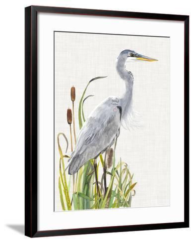 Waterbirds & Cattails I-Naomi McCavitt-Framed Art Print
