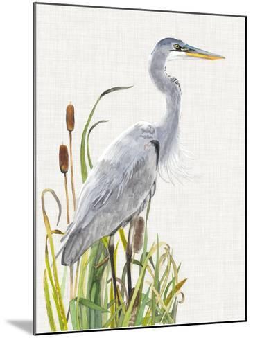 Waterbirds & Cattails I-Naomi McCavitt-Mounted Giclee Print