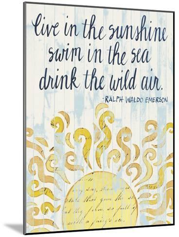 Sunny Day Words I-Grace Popp-Mounted Art Print