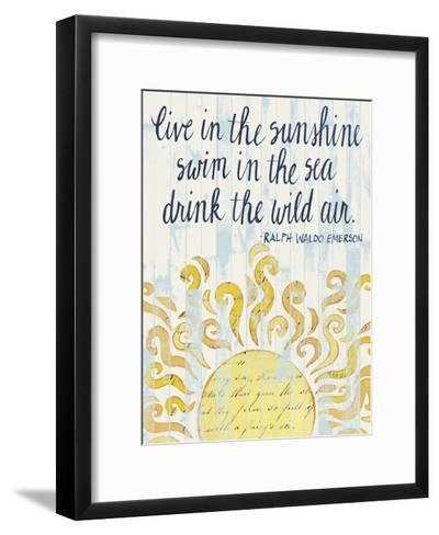 Sunny Day Words I-Grace Popp-Framed Art Print