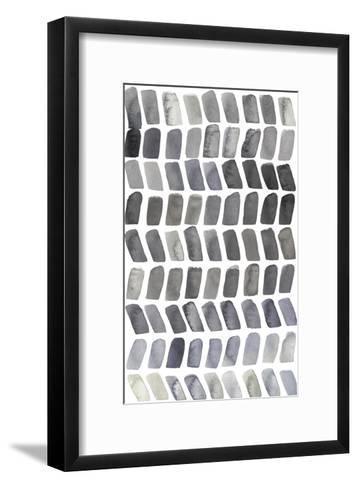 Watercolor Chevron I-Grace Popp-Framed Art Print