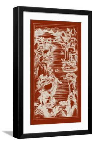 Chinese Bird's-eye View in Red I-Vision Studio-Framed Art Print