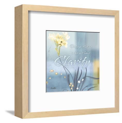 Blue Floral Inspiration II-Evelia Designs-Framed Art Print