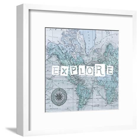 Map Words VI-Studio W-Framed Art Print