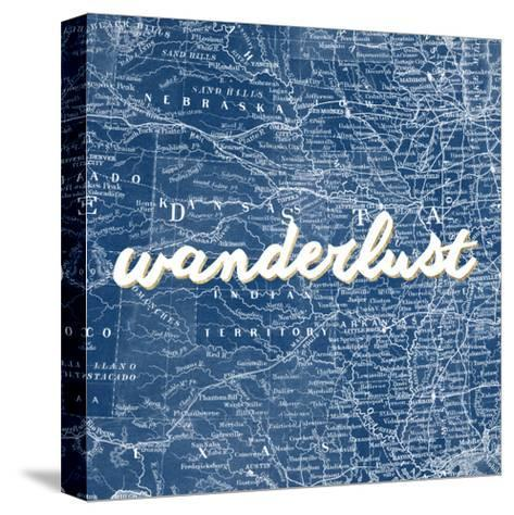 Map Words VII-Studio W-Stretched Canvas Print