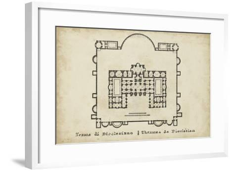 Plan for the Baths of Diocletian--Framed Art Print