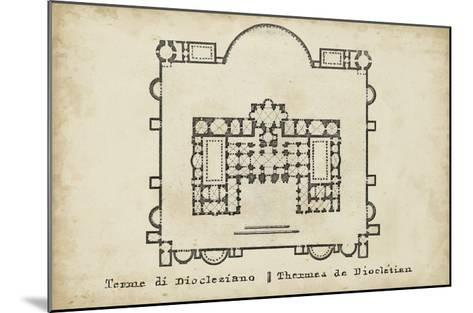 Plan for the Baths of Diocletian--Mounted Giclee Print