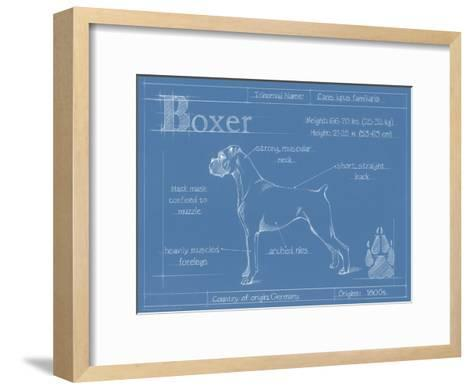 Blueprint boxer art print by ethan harper art blueprint boxer ethan harper framed art print malvernweather Image collections