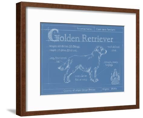 Blueprint Golden Retriever-Ethan Harper-Framed Art Print
