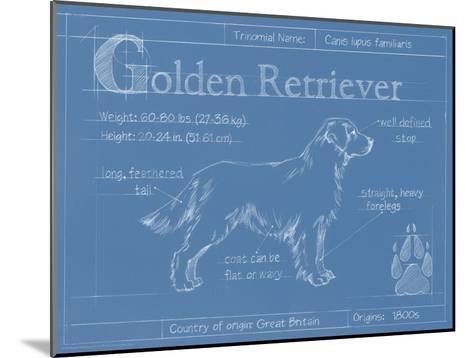 Blueprint Golden Retriever-Ethan Harper-Mounted Art Print