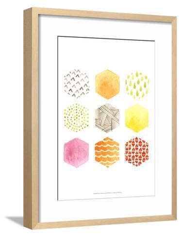 Honeycomb Patterns I-June Vess-Framed Art Print