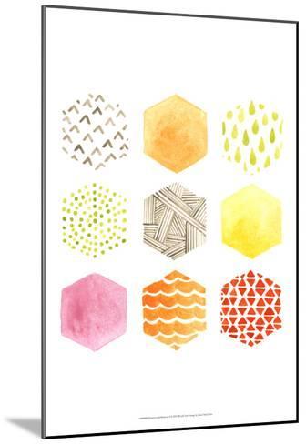 Honeycomb Patterns I-June Vess-Mounted Art Print