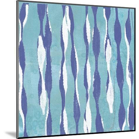 Pattern Waves I-Jennifer Goldberger-Mounted Art Print