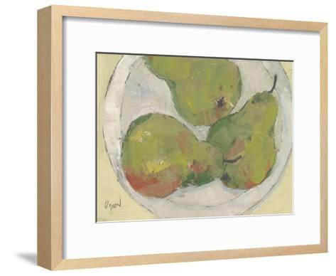 Plate with Pear-Samuel Dixon-Framed Art Print